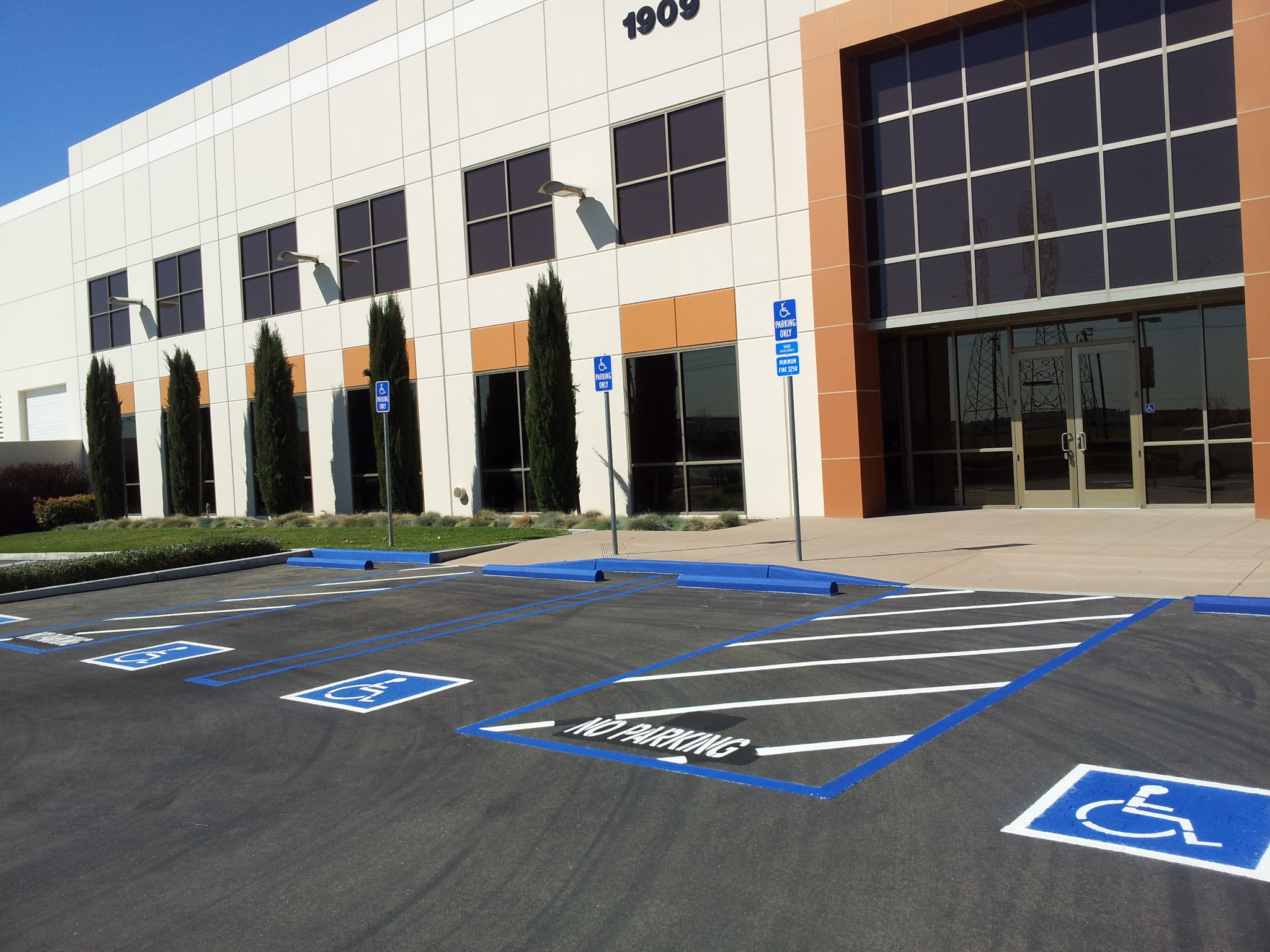 handicap parking lot painting