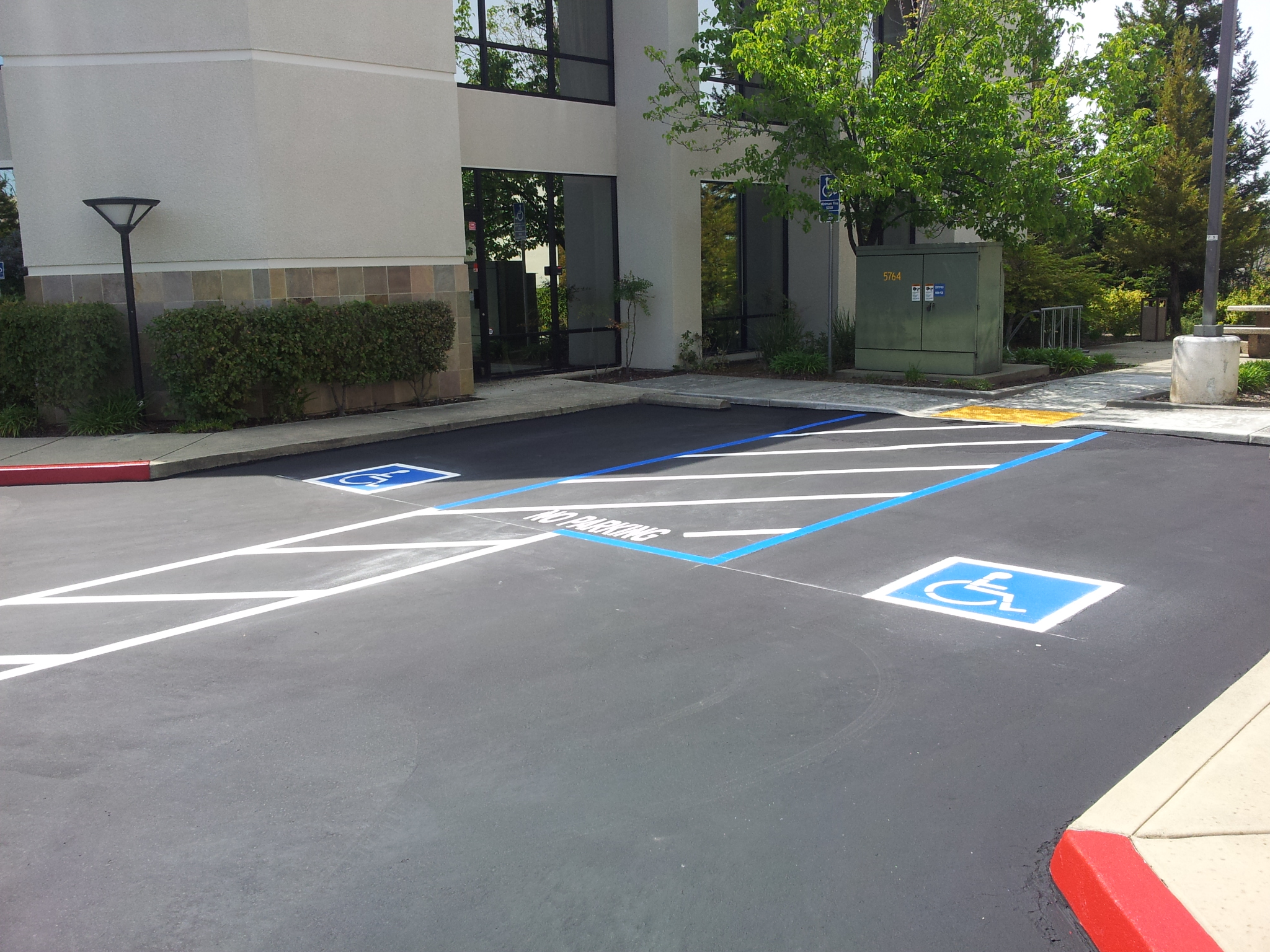 handicap parking striping
