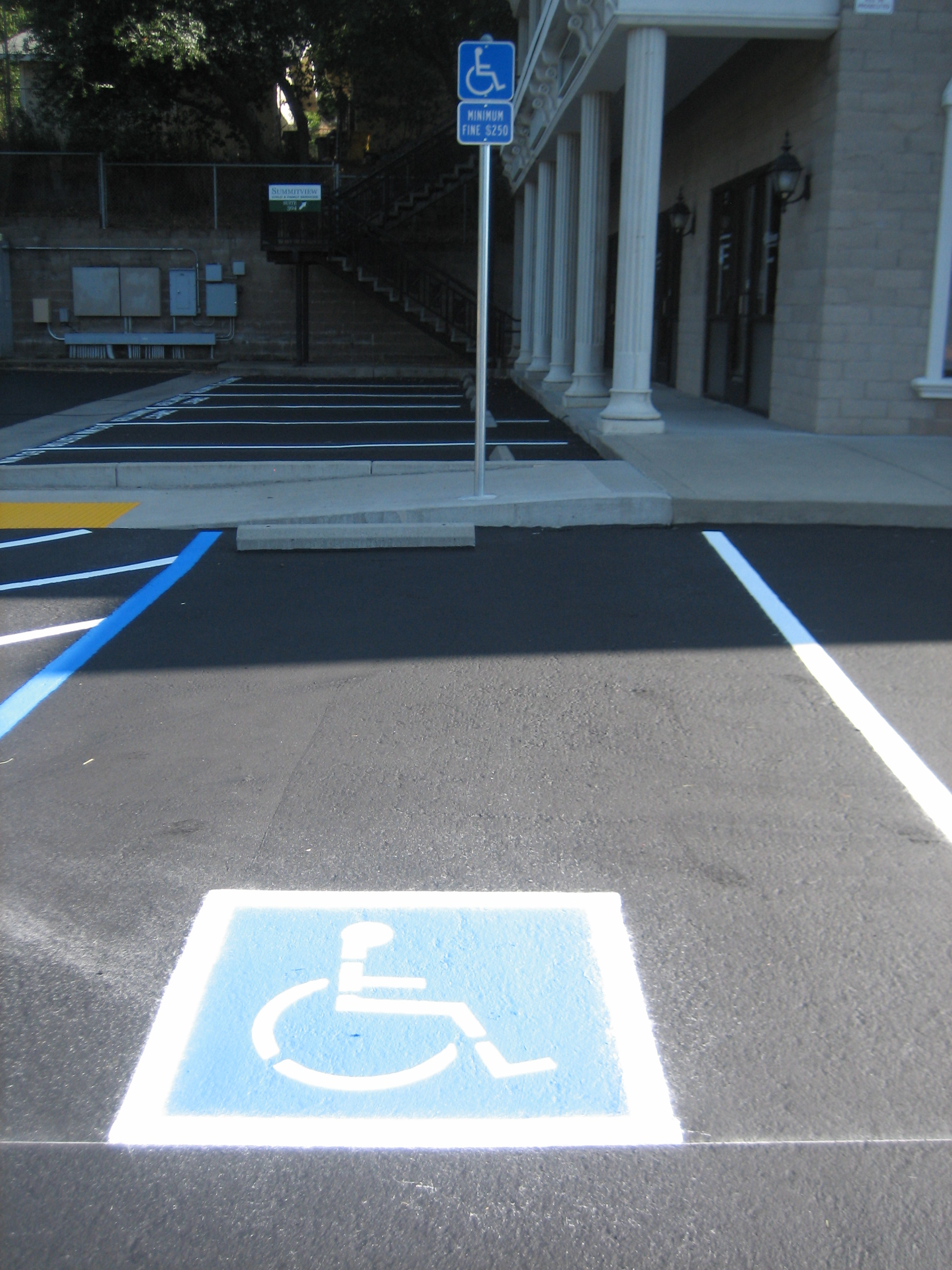 handicap parking painting